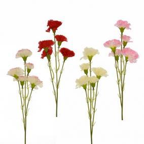 Selyemvirág csokor szegfű 55cm 4 féle