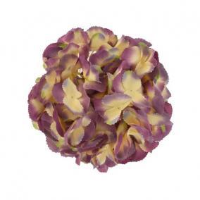 Selyemvirág hortenzia fej 20 cm lila-zöld