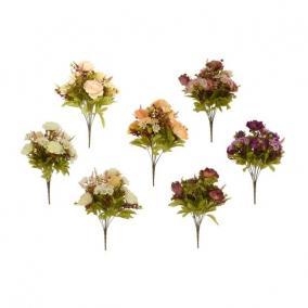 Selyemvirág vegyes csokor 50 cm színes