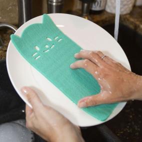 Spanyol mosogatószivacs, cicás [3 db]