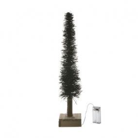 Stilizált fenyő Led világítással növényi rost 40cm natúr