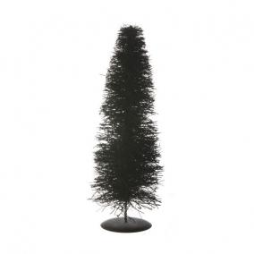 Stilizált fenyő fém talppal növényi rost 40cm natúr