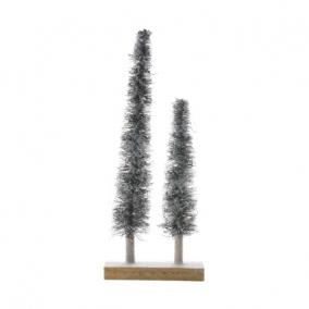 Stilizált fenyő növényi rost 40/60cm natúr [2 db]