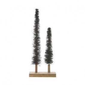 Stilizált fenyő növényi rost 40/60cm zöld [2 db]