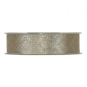 Szalag mintás textil 25mm x 20m szürke,arany