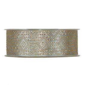 Szalag mintás textil 40mm x 20m szürke,arany