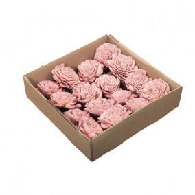 Száritott virágfej 5cm rózsaszín [16 db]