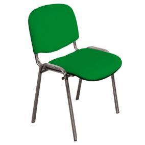 Szék kórtermi támlás króm 4045 zöld