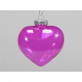 Szív akasztós műanyag 100 mm rózsaszín