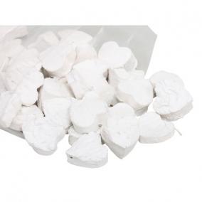 Szív kókuszhéj 3 cm fehér [50 db]