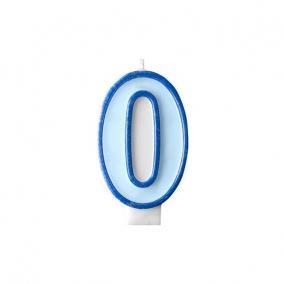 Szülinapi számgyertya 6,5cm kék 0