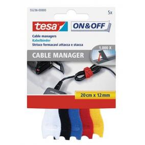 Kábelkötegelő, tépőzáras, TESA