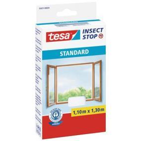 Szúnyogháló, ablakra, tépőzáras, 1,1 x 1,3 m, TESA, fehér