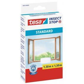 Szúnyogháló, ablakra, tépőzáras, 1,3 x 1,5 m, TESA, fehér