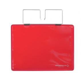 Dokumentumtartó raklaphoz, erősített, A5, fekvő, TARIFOLD, piros [10 db]