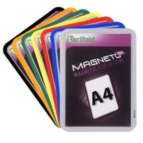 Mágneses tasak, mágneses háttal, A4, TARIFOLD Magneto Solo, ezüst (2db)