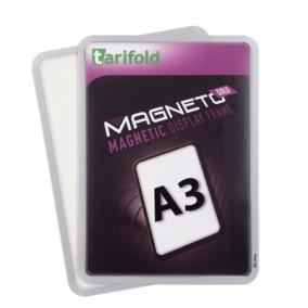Mágneses tasak, mágneses háttal, A3, TARIFOLD Magneto Solo, ezüst (2db)