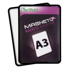 Mágneses tasak, mágneses háttal, A3, TARIFOLD Magneto Solo, fekete (2db)