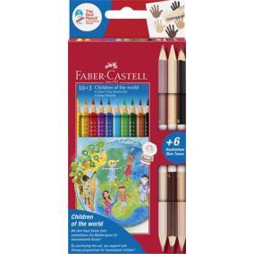 Színes ceruza készlet, háromszögletű, FABER-CASTELL