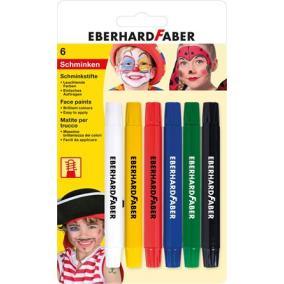 Arcfestő készlet, EBERHARD-CASTELL, csavarható, 6 különböző szín [6 db]