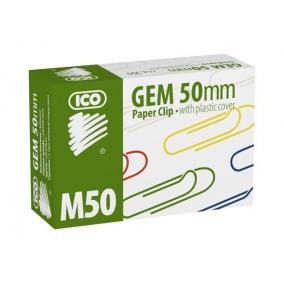 Gemkapocs, 50 mm, ICO, színes [100 db]