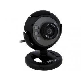 Webkamera, beépített mikrofonnal, led világítás, TRUST
