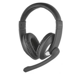 Fejhallgató, mikrofonnal, 3,5 mm jack, TRUST