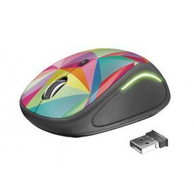 Egér, vezeték nélküli, optikai, USB, TRUST