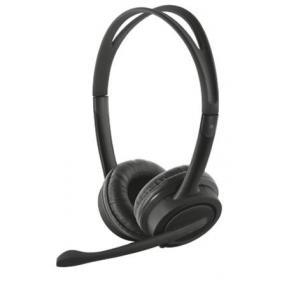 Fejhallgató, mikrofon, hangerőszabályzóval, USB, TRUST