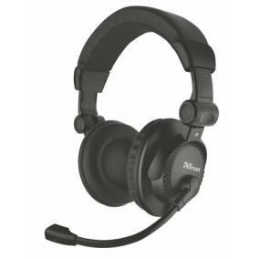 Fejhallgató, mikrofonnal, vezetékes, 3,5 mm jack, TRUST