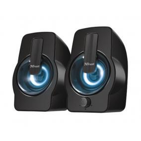 Hangszóró, 2.0, stereo, 6W RMS, LED világítással, USB táp, TRUST