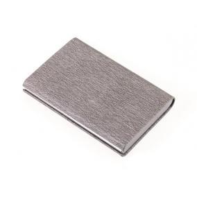 Bankkártyatartó, műbőr, 10 db-os, RFID védelemmel, TROIKA, szürke