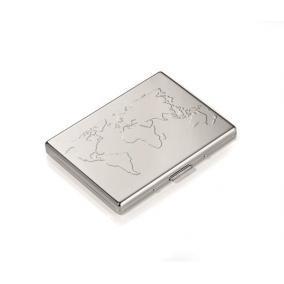 Bankkártyatartó, fém, 6 db-os, TROIKA