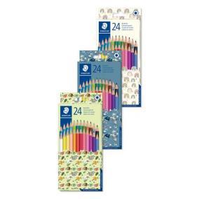 Színes ceruza készlet, hatszögletű, vegyes mintájú, STAEDTLER