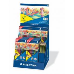 Színes ceruza és grafitceruza display, hatszögletű, STAEDTLER