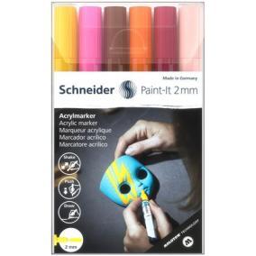 Akril marker készlet, 2 mm, SCHNEIDER