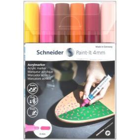 Akril marker készlet, 4 mm, SCHNEIDER