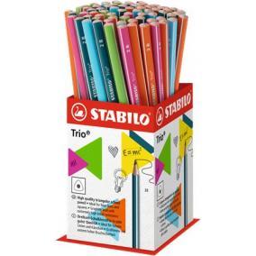Grafitceruza display, 2B, háromszögletű, STABILO