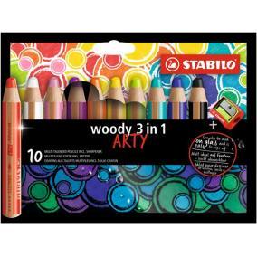 Színes ceruza készlet, kerek, vastag, STABILO