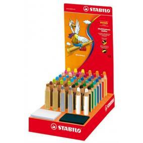 Színes ceruza display, kerek, vastag, STABILO