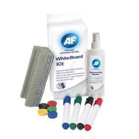 Tisztítófolyadék, táblához, szivaccsal, törlőkendővel, mágnessel, táblafilccel, 125 ml, AF