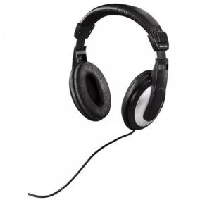 Fejhallgató Tv  hk-5619 sztereó vezetékes, fekete/ezüst - Hama, 184013
