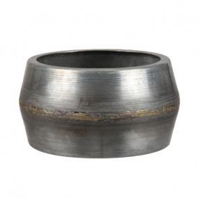 Tál kerek fém 15cm x8 cm szürke