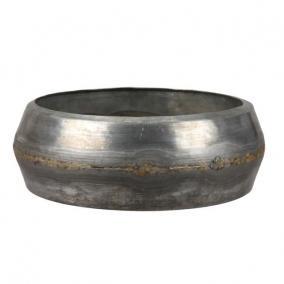 Tál kerek fém 23,5cm x8 cm szürke