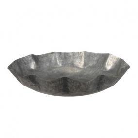 Tál kerek fém 32cm x6,5 cm szürke