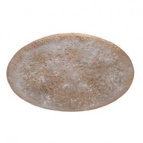 Tál kerek fém 49cm arany