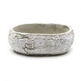 Tál kő hatású cement 22,5 cm x 13,5 cm x 8,5 cm szürke
