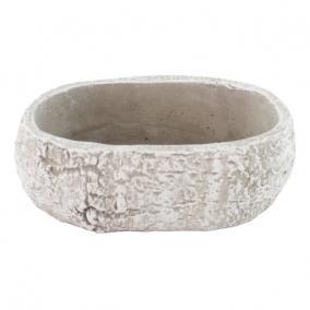 Tál kő hatású cement 25 cm x 15 cm x 10 cm szürke