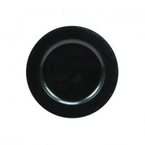 Tányér kerek műanyag 28 cm olaj kék
