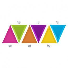 Tányér papír 19,5x23,5x23,5cm vegyes színekben (6 db/szett)